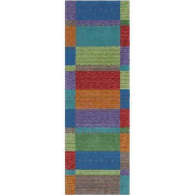 Company C Gemstones 100% Wool Hand Woven Area Rug, Multi-Rugs-Company C-3' x 8' Runner-Heaven's Gate Home, LLC