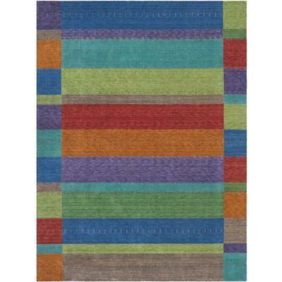 Company C Gemstones 100% Wool Hand Woven Area Rug, Multi-Rugs-Company C-6' x 9'-Heaven's Gate Home, LLC
