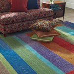 Company C Gemstones 100% Wool Hand Woven Area Rug, Multi-Rugs-Company C-Heaven's Gate Home, LLC