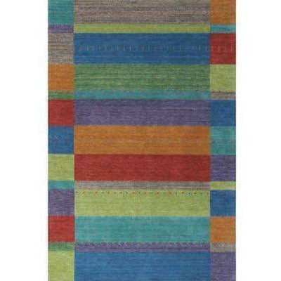 Company C Gemstones 100% Wool Hand Woven Area Rug, Multi-Rugs-Company C-3' x 5'-Heaven's Gate Home
