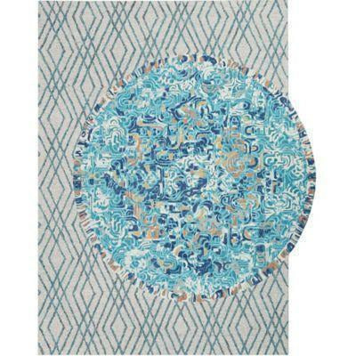 Company C Duet Hand-tufted Wool Transitional Rug, Lake-Rugs-Company C-7' x 9'-Heaven's Gate Home