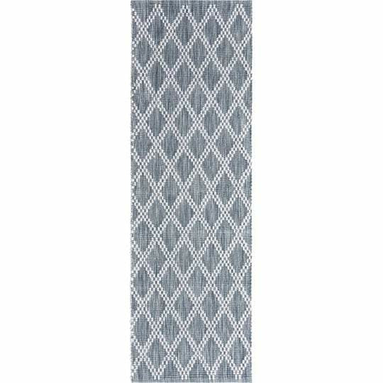 Company C Harlequin Hand Woven Contemporary Rug-Rugs-Company C-Gray-3' x 8' Runner-Heaven's Gate Home