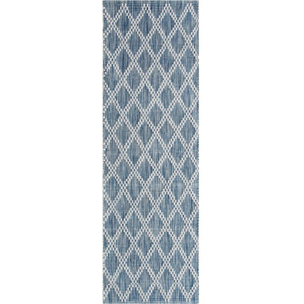 Company C Harlequin Hand Woven Contemporary Rug-Rugs-Company C-Indigo-3' x 8' Runner-Heaven's Gate Home