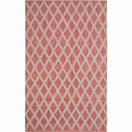 Company C Harlequin Hand Woven Contemporary Rug-Rugs-Company C-Red-2' x 3'-Heaven's Gate Home