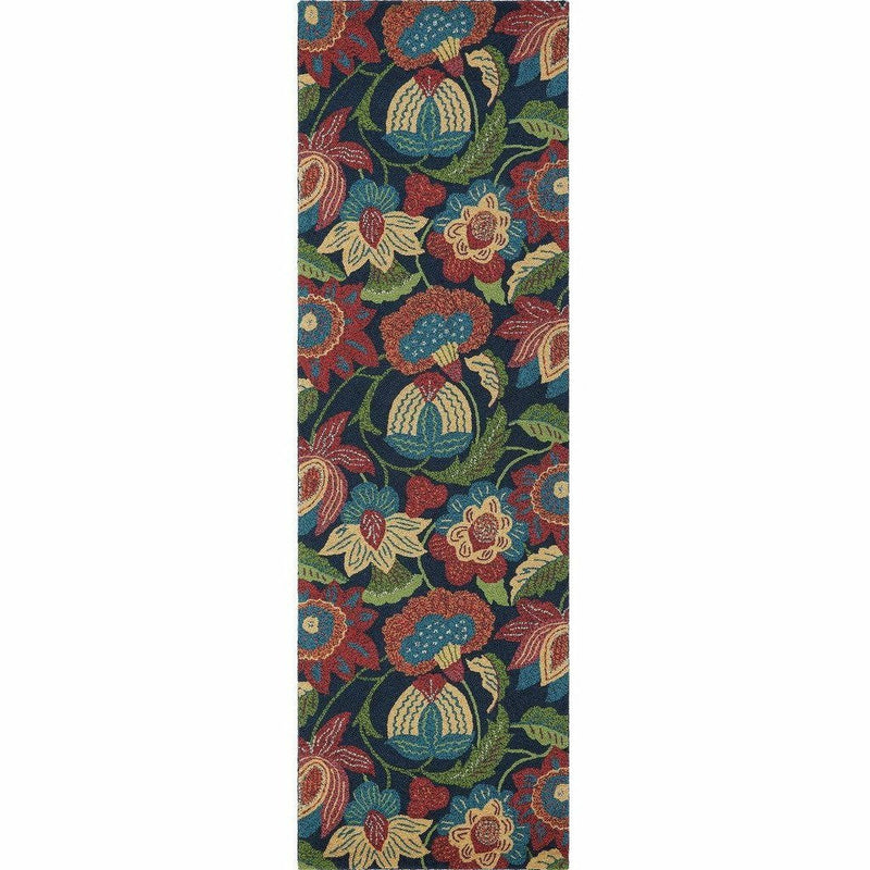 Company C Tasha 100% Wool Contemporary Hand-hooked Rug, Multi-Rugs-Company C-3' x 8' Runner-Heaven's Gate Home, LLC