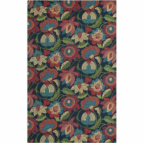 Company C Tasha 100% Wool Contemporary Hand-hooked Rug, Multi-Rugs-Company C-2' x 3'-Heaven's Gate Home, LLC