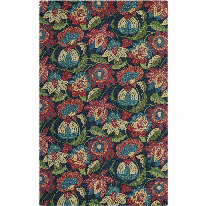 Company C Tasha 100% Wool Contemporary Hand-hooked Rug, Multi-Rugs-Company C-2' x 3'-Heaven's Gate Home