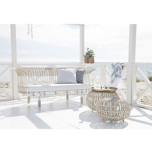 Sika-Design Exterior Belladonna Aluminum Rattan Sofa w/ Cushion, Outdoor-Sofas-Sika Design-Heaven's Gate Home