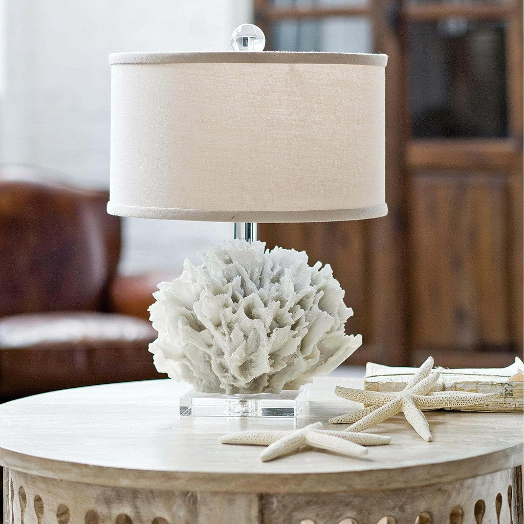 Regina Andrew Ribbon Coral Mini Lamp - Heaven's Gate Home & Garden