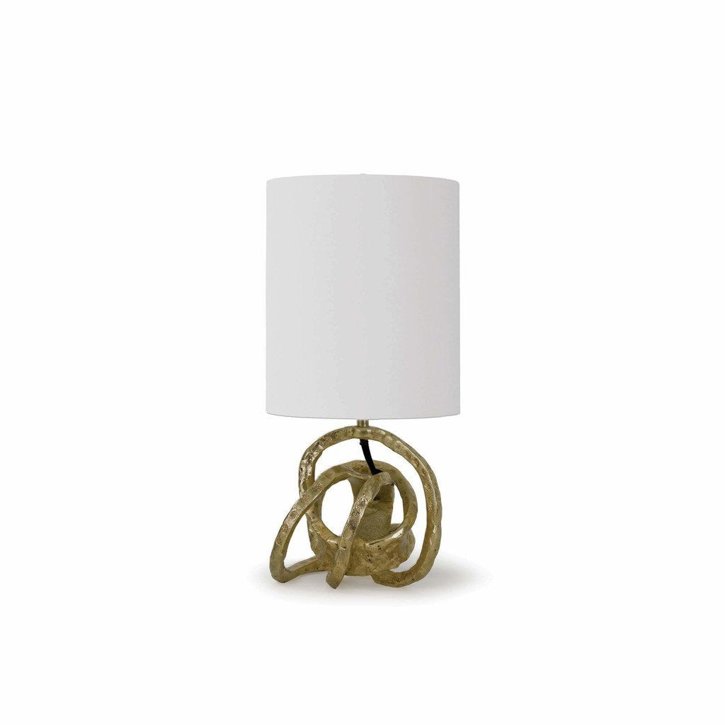 Regina Andrew Mini Knot Lamp, Soft Gold-Table Lamps-Regina Andrew-Heaven