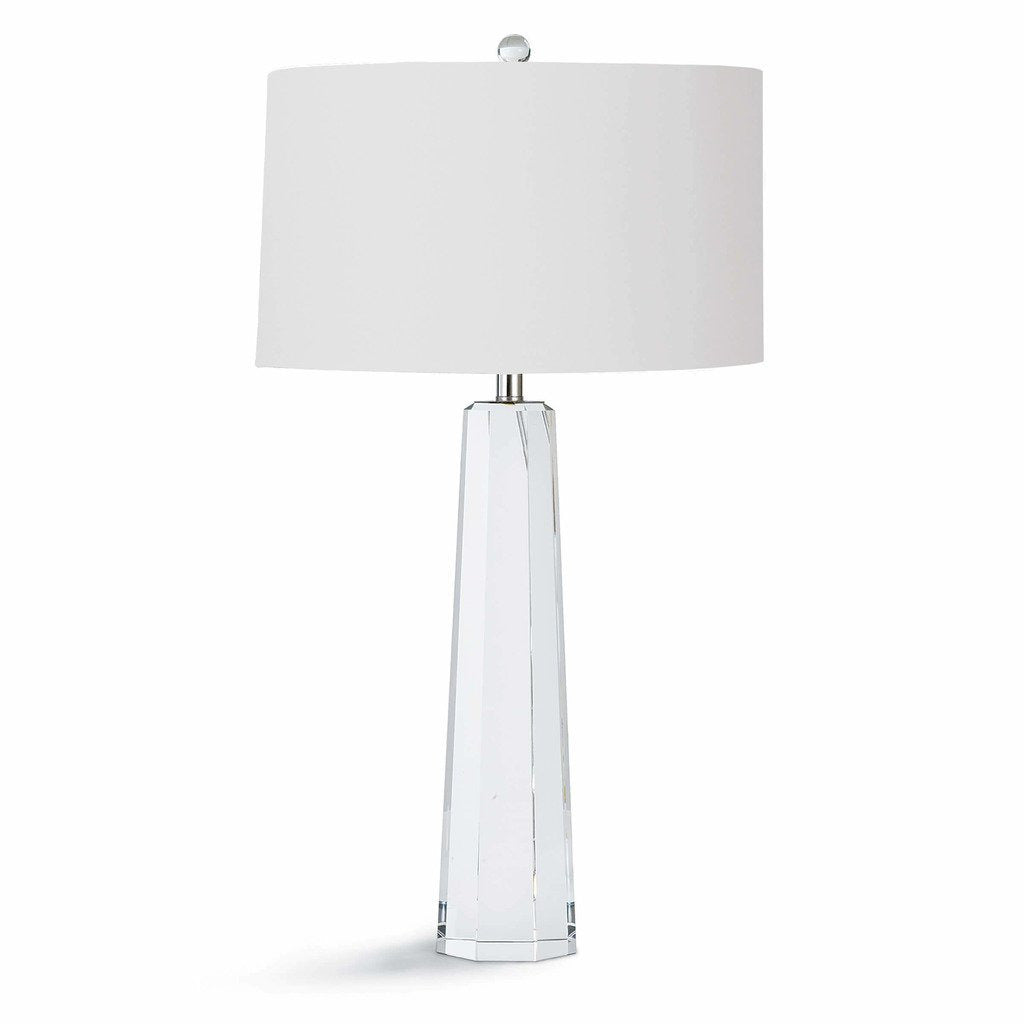 Regina Andrew Tapered Hex Crystal Table Lamp-Table Lamps-Regina Andrew-Heaven's Gate Home