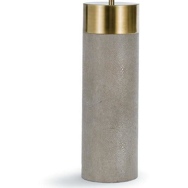Regina Andrew Harlow Ivory Grey Shagreen Cylinder Table Lamp-Table Lamps-Regina Andrew-Heaven's Gate Home