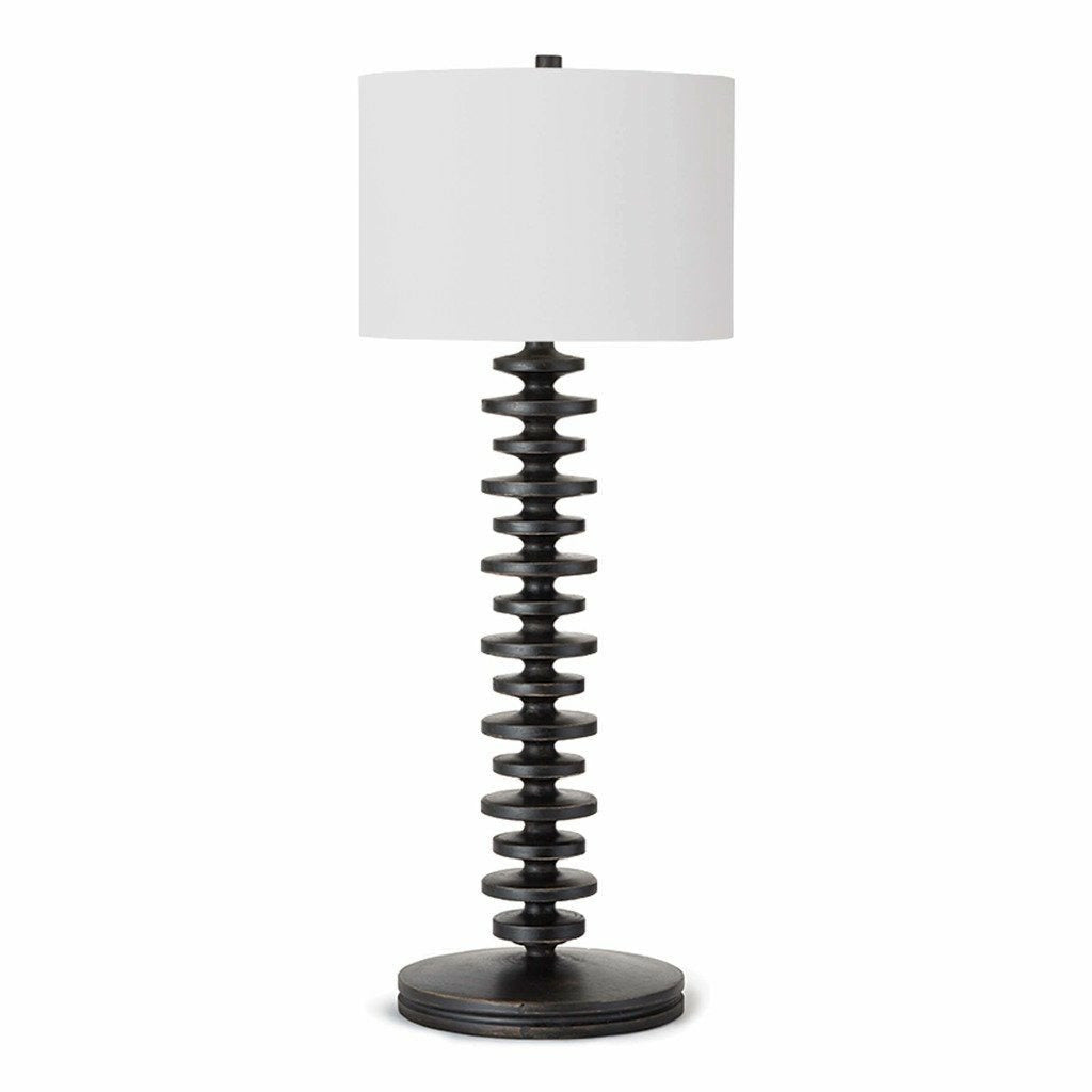 Regina Andrew Fishbone Buffet Table Lamp (Ebony)-1
