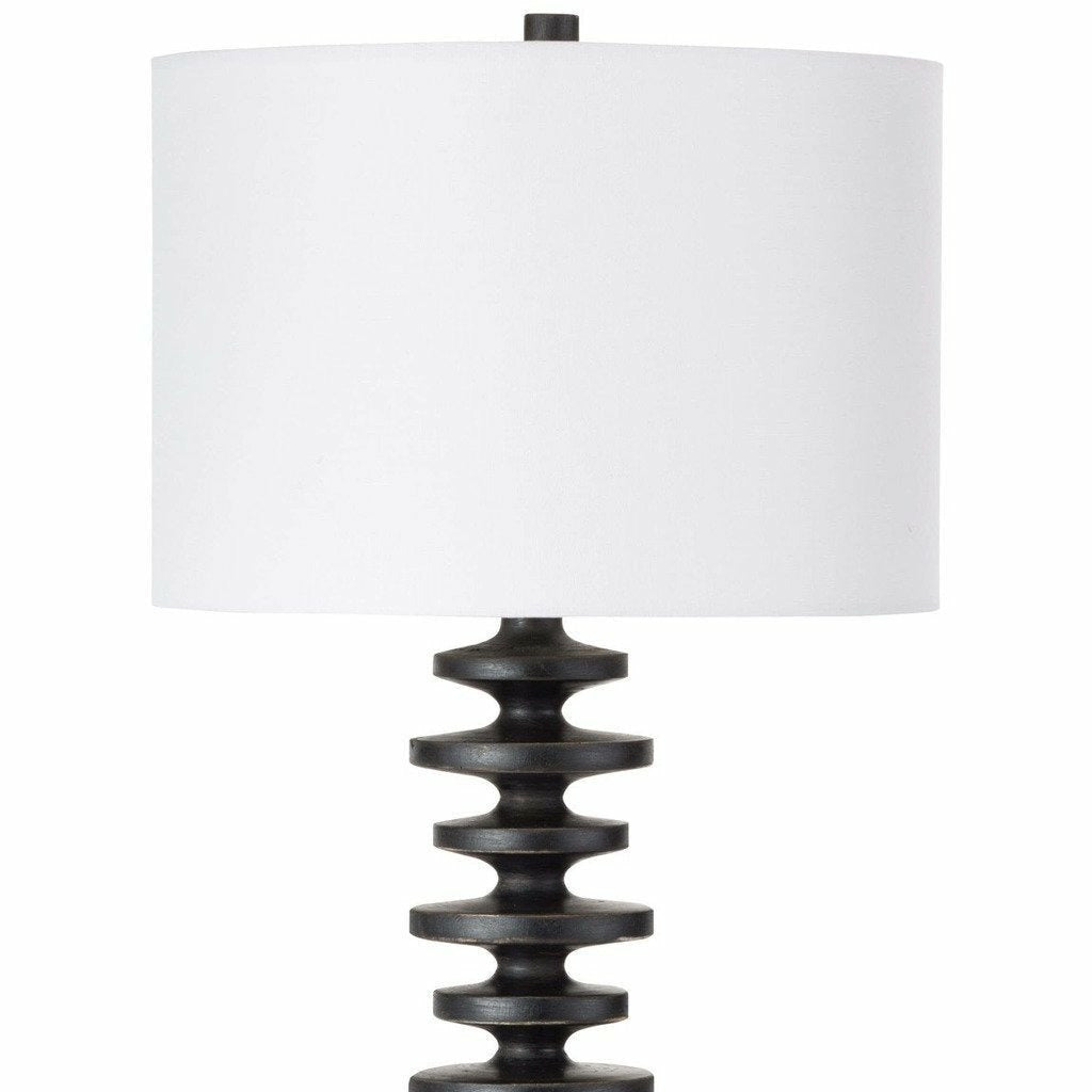 Regina Andrew Fishbone Buffet Table Lamp (Ebony) - Heaven's Gate Home & Garden