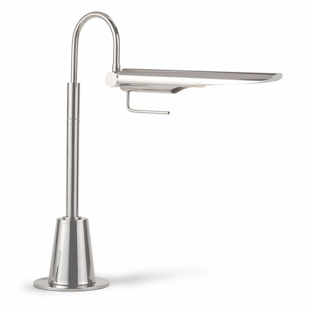 Regina Andrew Raven Task Lamp, Polished Nickel-Table Lamps-Regina Andrew-Heaven