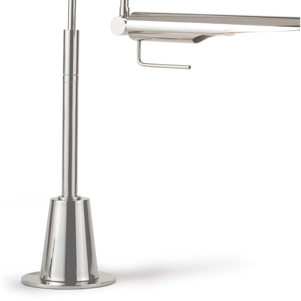 Regina Andrew Raven Task Lamp, Polished Nickel-Table Lamps-Regina Andrew-Heaven's Gate Home