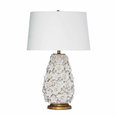 Regina Andrew Alice Porcelain Flower Table Lamp-Table Lamps-Regina Andrew-Heaven's Gate Home, LLC