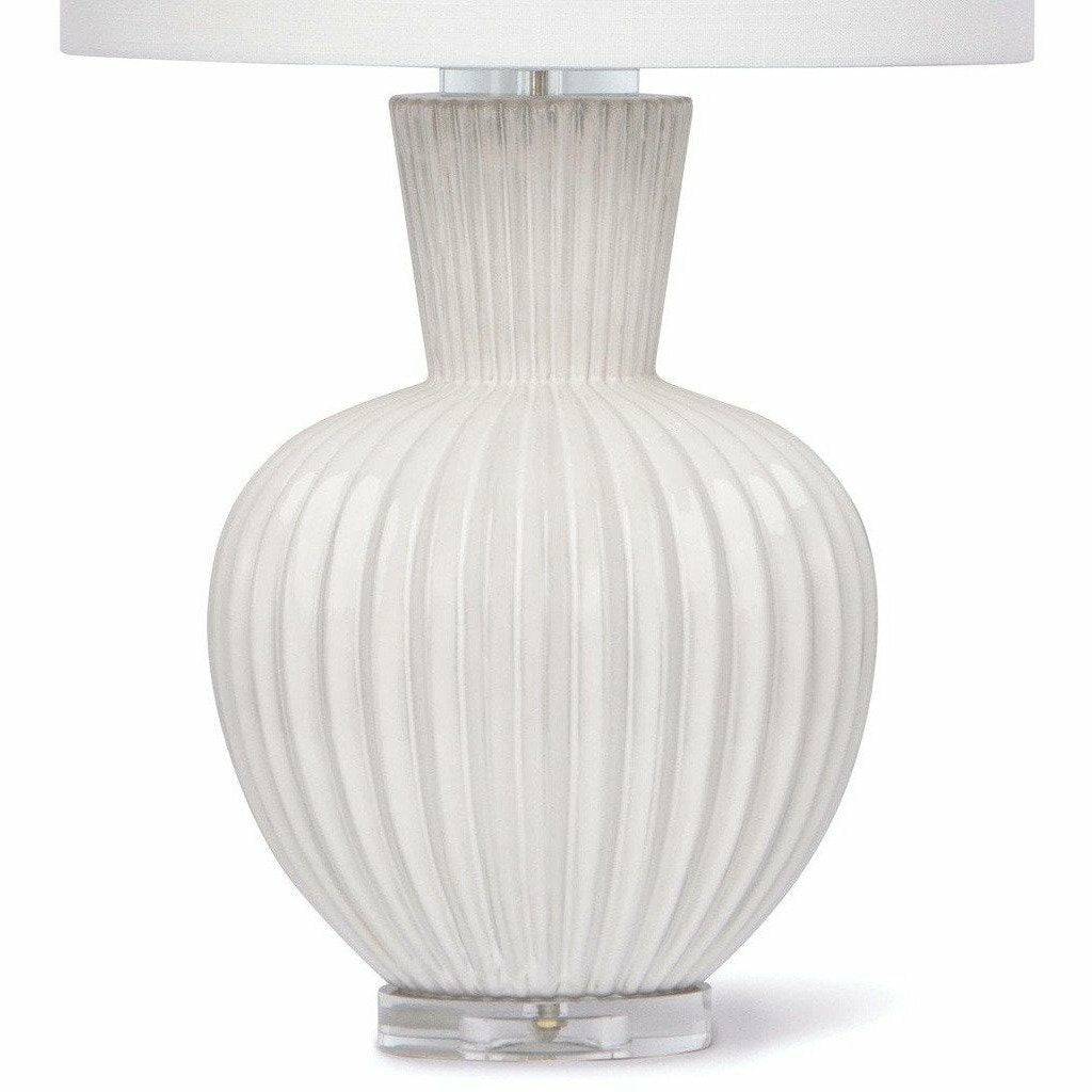 Regina Andrew Madrid Ceramic Table Lamp, White-Table Lamps-Regina Andrew-Heaven's Gate Home