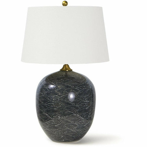 Regina Andrew Harbor Ceramic Table Lamp, Black-Table Lamps-Regina Andrew-Heaven's Gate Home