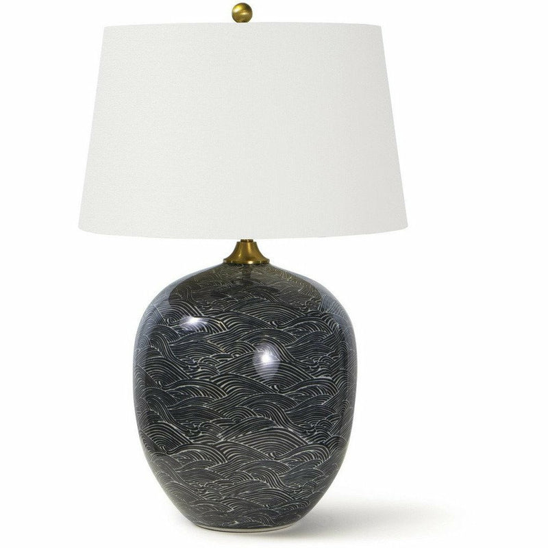 Regina Andrew Harbor Ceramic Table Lamp, Black-Table Lamps-Regina Andrew-Heaven's Gate Home, LLC