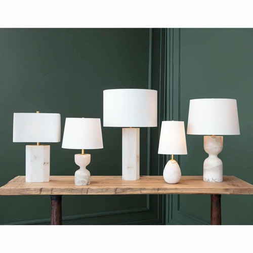 Regina Andrew Jared Alabaster Mini Lamp-Floor Lamps-Regina Andrew-Heaven's Gate Home