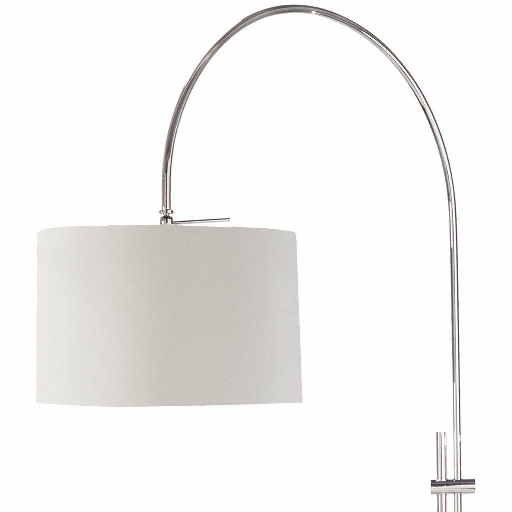 Regina Andrew Arc Floor Lamp With Fabric Shade (Polished Nickel)-3