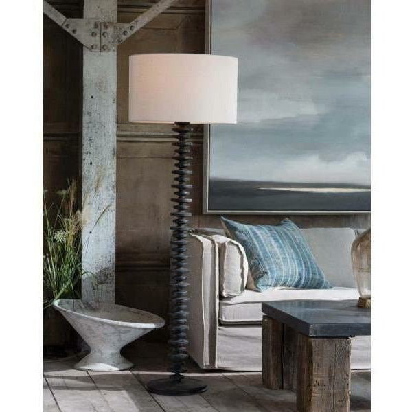 Regina Andrew Fishbone Floor Lamp (Ebony)-1
