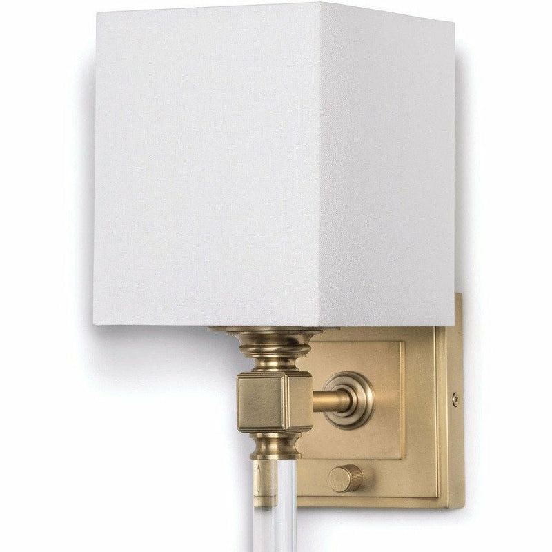 Regina Andrew Crystal Tail Sconce, Natural Brass-Wall Sconces-Regina Andrew-Heaven's Gate Home