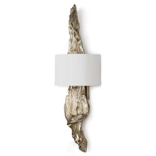 Regina Andrew Driftwood Sconce, Ambered Silver Leaf-Wall Sconces-Regina Andrew-Heaven's Gate Home, LLC