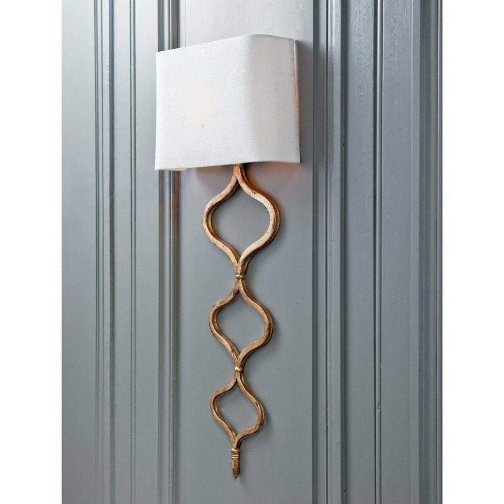 Regina Andrew Sinuous Sconce, Gold Leaf-Wall Sconces-Regina Andrew-Heaven's Gate Home