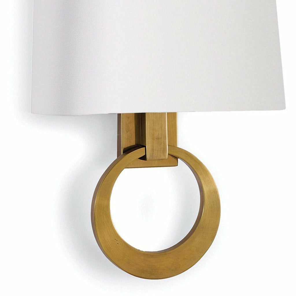 Regina Andrew Engagement Sconce, Natural Brass-Wall Sconces-Regina Andrew-Heaven's Gate Home