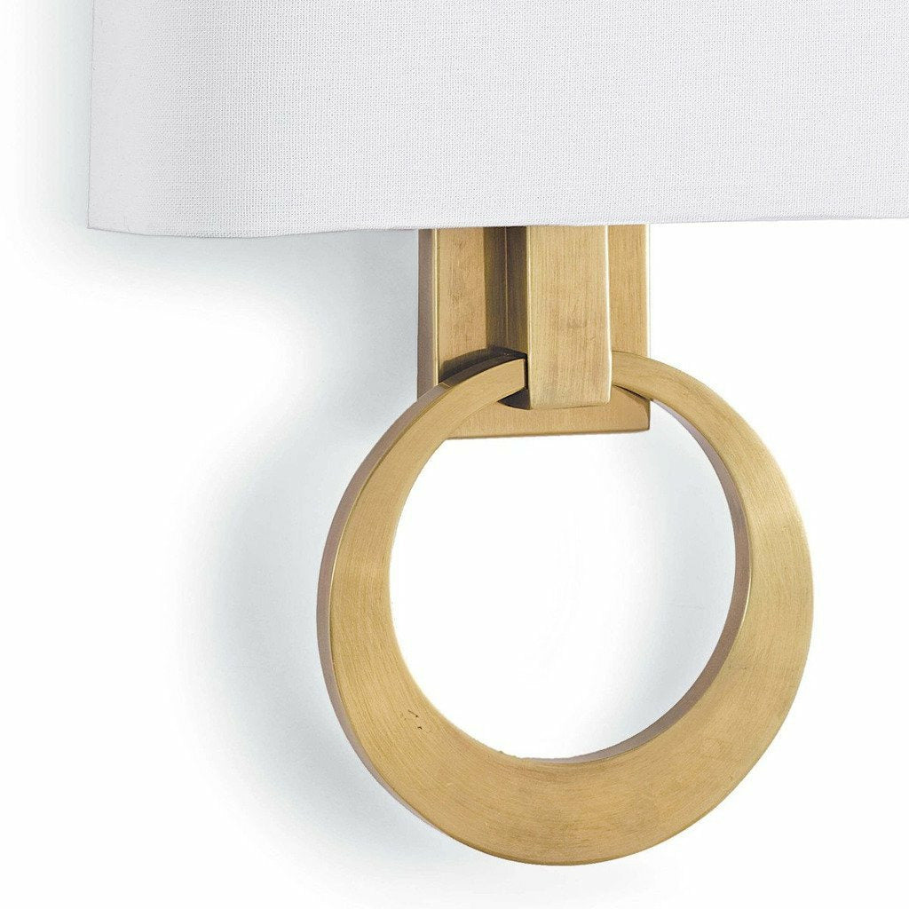Regina Andrew Engagement Sconce, Natural Brass