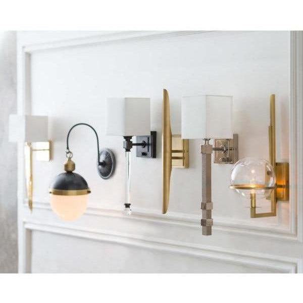 Regina Andrew Otis Sconce (Blackened Brass and Natural Brass) - Heaven's Gate Home & Garden