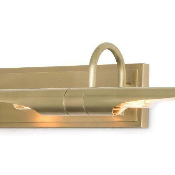 Regina Andrew Redford Picture Light Large, Natural Brass-Wall Sconces-Regina Andrew-Heaven's Gate Home