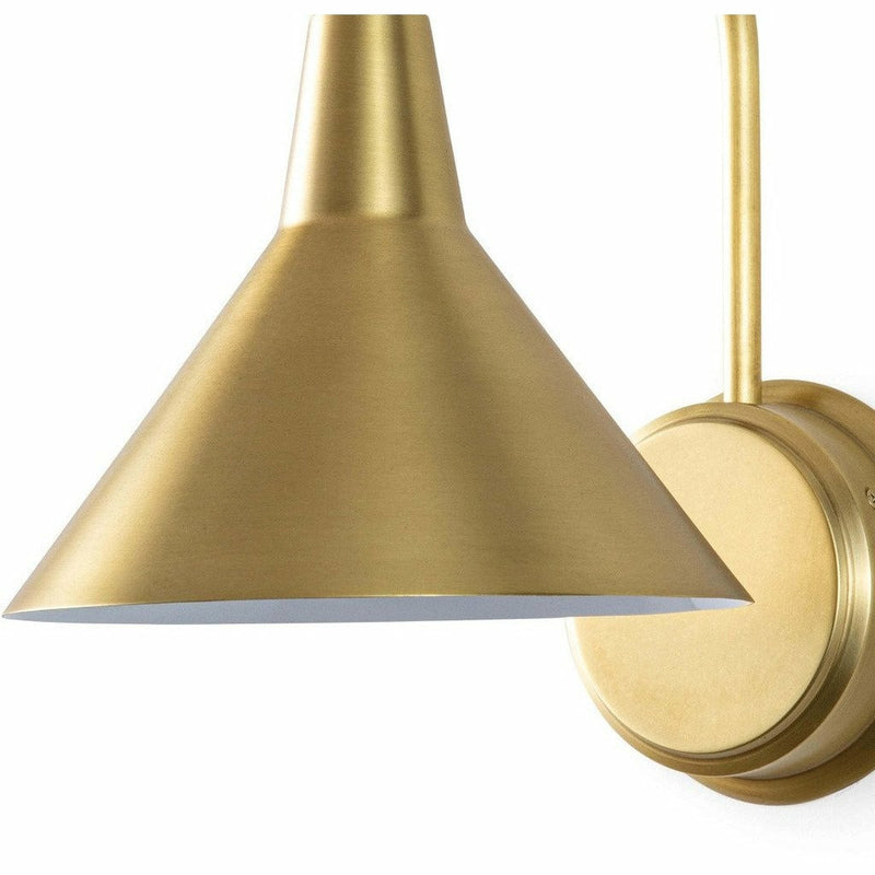 Regina Andrew Dublin Sconce, Natural Brass-Wall Sconces-Regina Andrew-Heaven's Gate Home, LLC