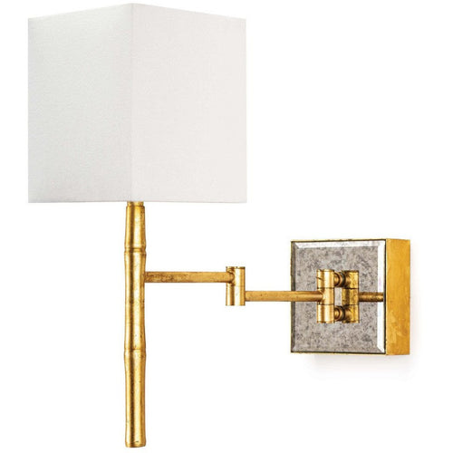 Regina Andrew Sarina Swing Arm Steel Wall Sconce, Gold Leaf