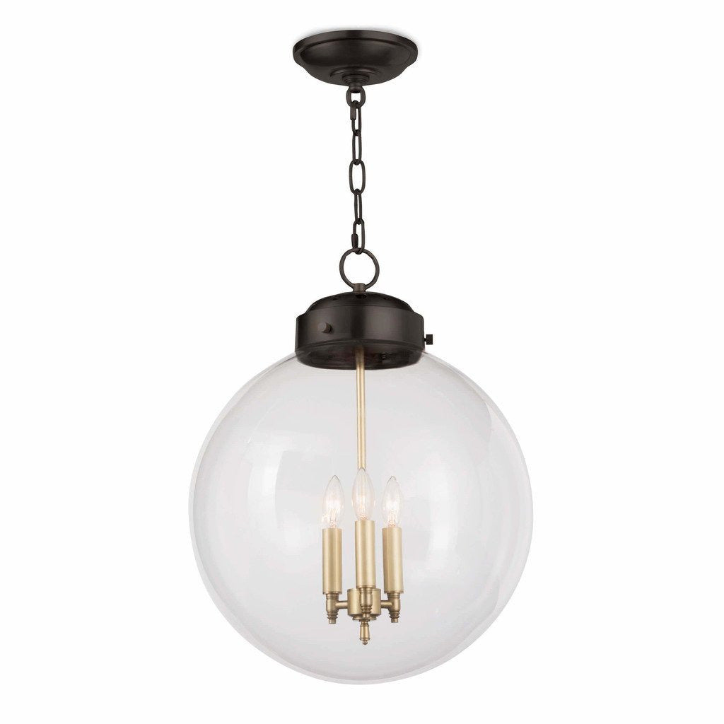Regina Andrew Globe Pendant, Oil Rubbed Bronze and Natural Brass-Pendant Lamps-Regina Andrew-Heaven