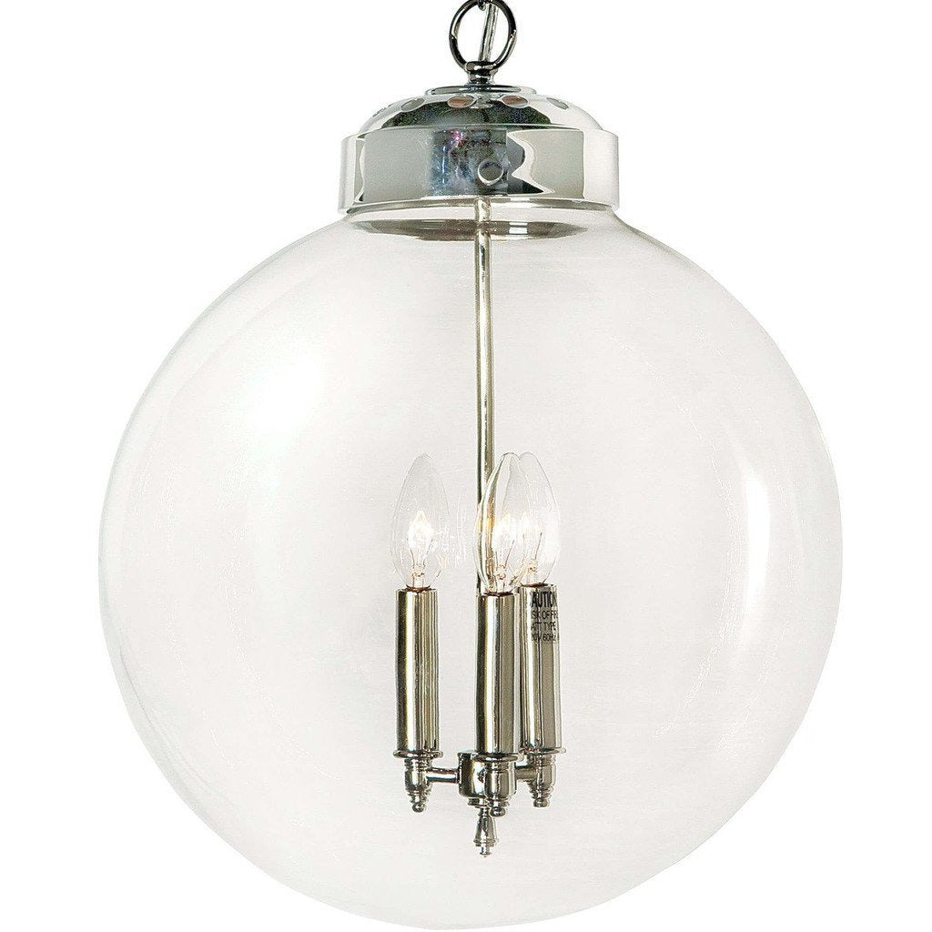 Regina Andrew Globe Pendant, Polished Nickel-Pendant Lamps-Regina Andrew-Heaven's Gate Home