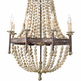 Regina Andrew Wood Beaded Chandelier - Heaven's Gate Home & Garden