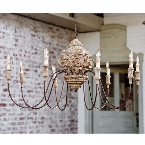 Regina Andrew Wood Carved Chandelier - Heaven's Gate Home & Garden