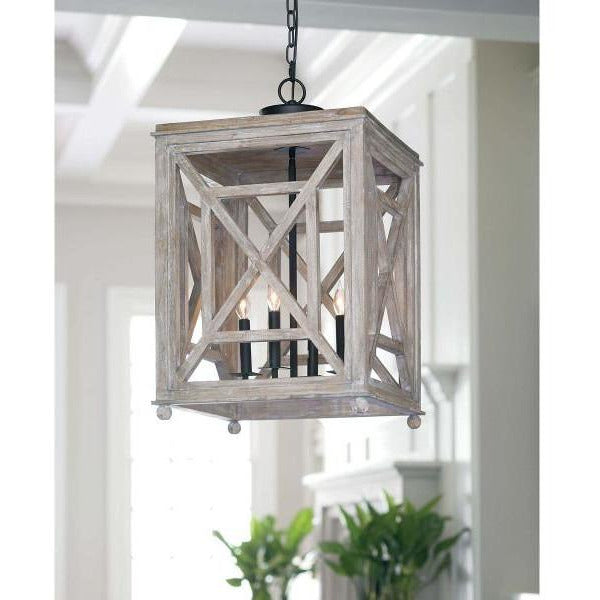 Regina Andrew Wood Lattice Lantern - Heaven