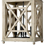 Regina Andrew Wood Lattice Lantern - Heaven's Gate Home & Garden