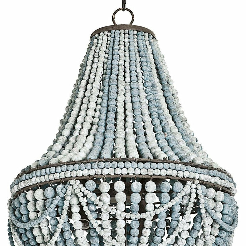 Regina Andrew Malibu Chandelier, Weathered Blue-Chandeliers-Regina Andrew-Heaven's Gate Home