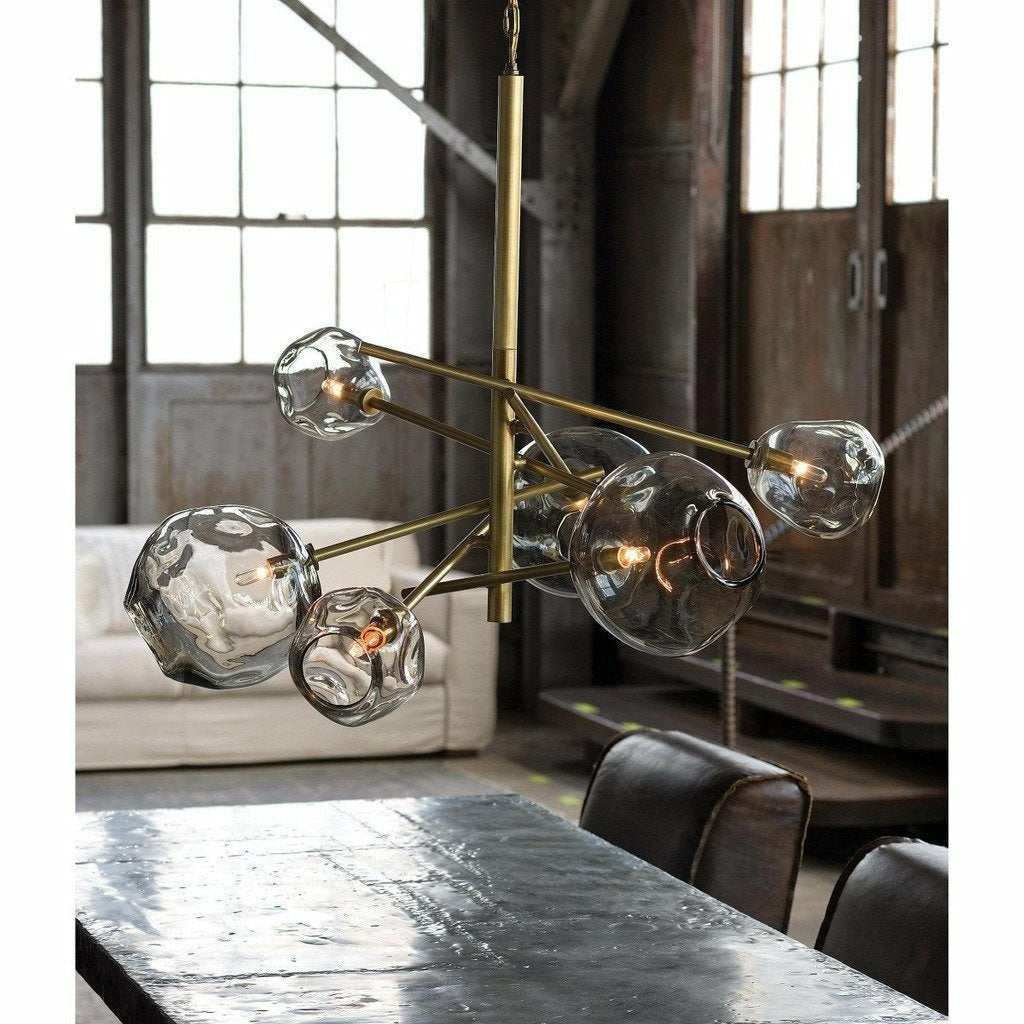 Regina Andrew Molten Chandelier With Smoke Glass (Natural Brass) - Heaven's Gate Home & Garden