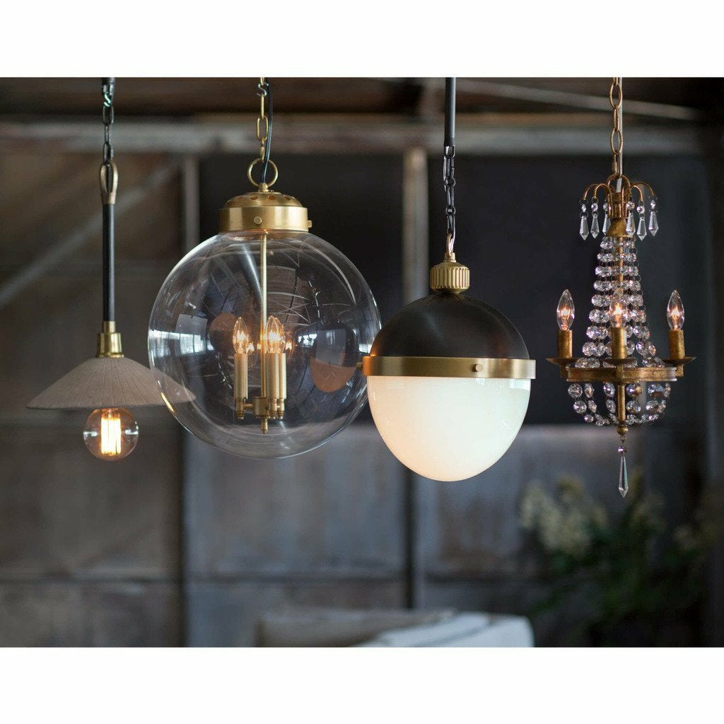 Regina Andrew Otis Pendant Medium, Blackened and Natural Brass-Pendant Lamps-Regina Andrew-Heaven's Gate Home