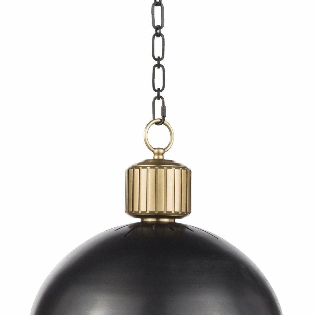 Regina Andrew Otis Pendant Large (Blackened and Natural Brass) - Heaven's Gate Home & Garden