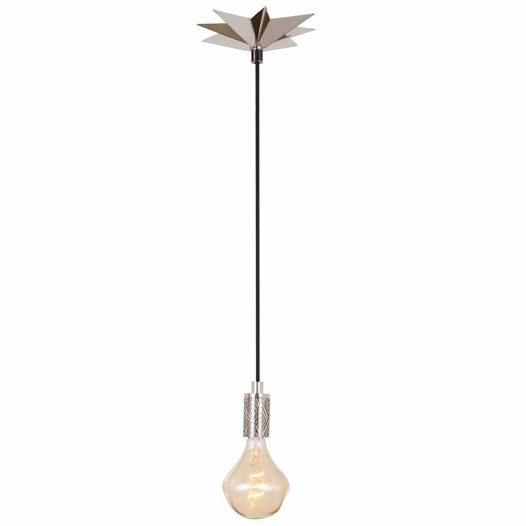 Regina Andrew Hudson Pendant (Polished Nickel) - Heaven's Gate Home & Garden