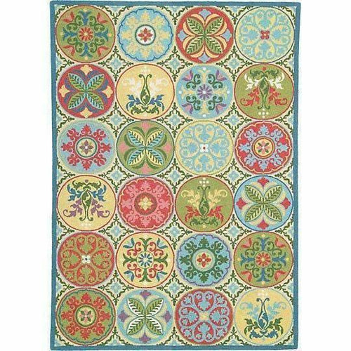 Company C Stepping Stones 100% Wool Hand-Hooked Rug-Rugs-Company C-3' x 5'-Heaven's Gate Home