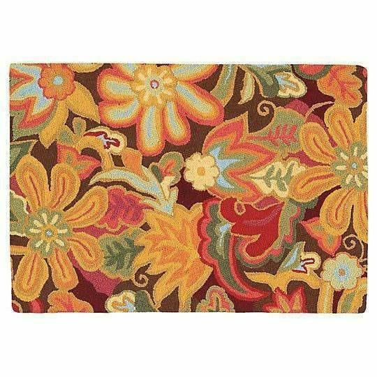 Company C Tapestry 100% Wool Hand-Hooked Rug, Spice-Rugs-Company C-2' x 3'-Heaven's Gate Home