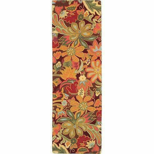 Company C Tapestry 100% Wool Hand-Hooked Rug, Spice-Rugs-Company C-3' x 8' Runner-Heaven's Gate Home